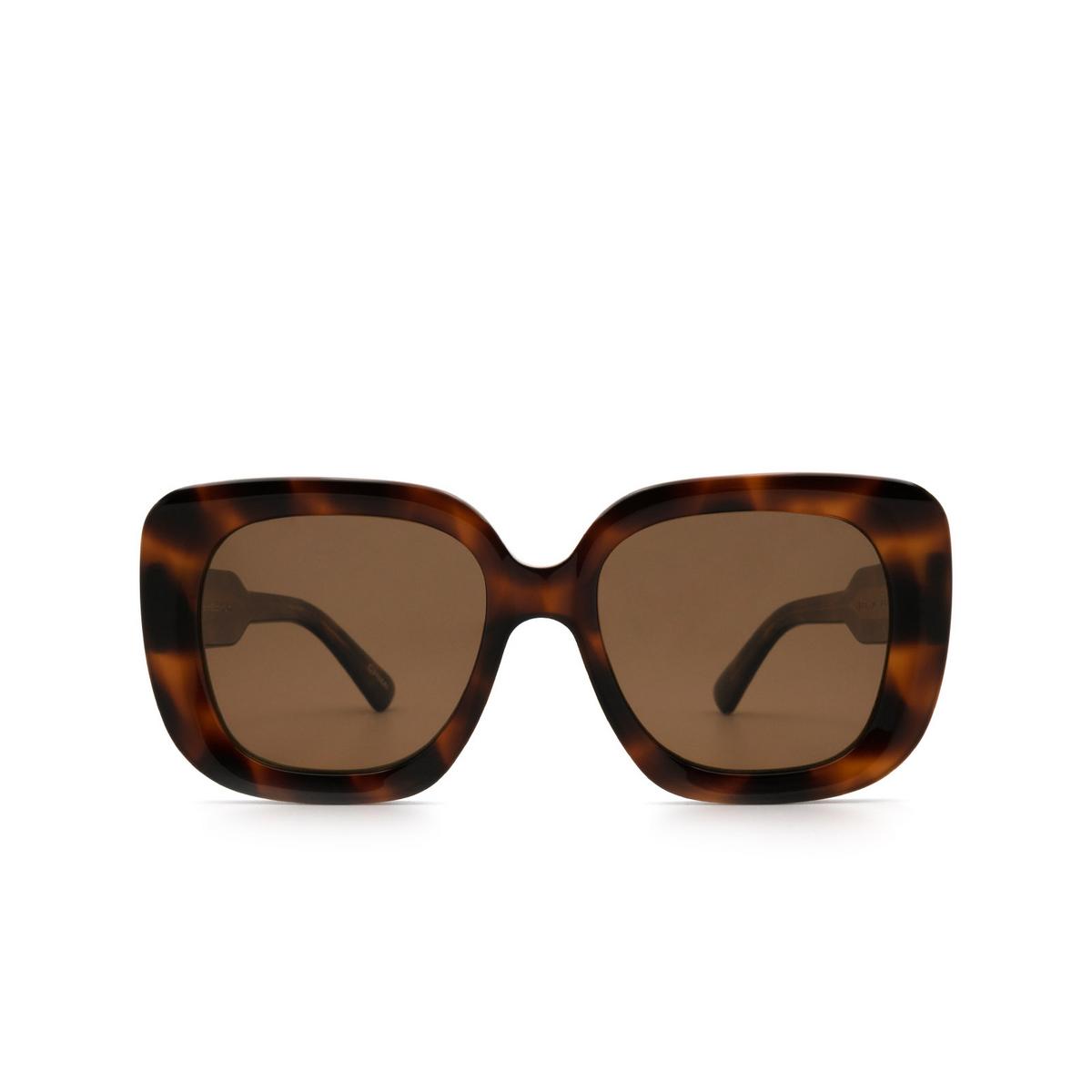 Chimi® Square Sunglasses: 10 color Tortoise - front view.