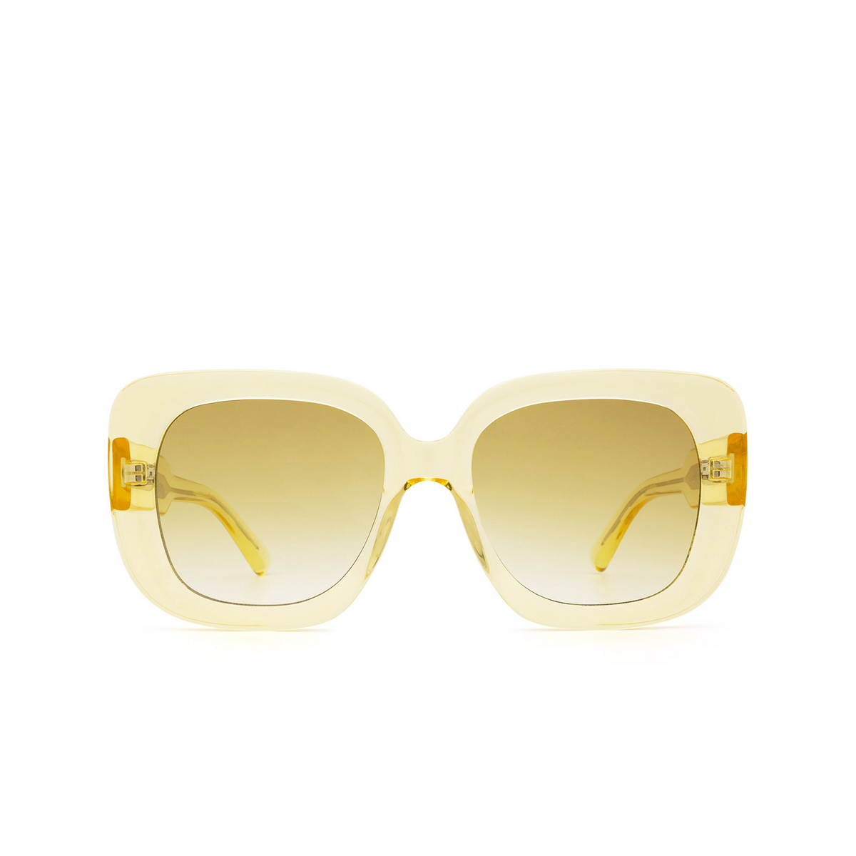 Chimi® Square Sunglasses: 10 color Yellow - front view.