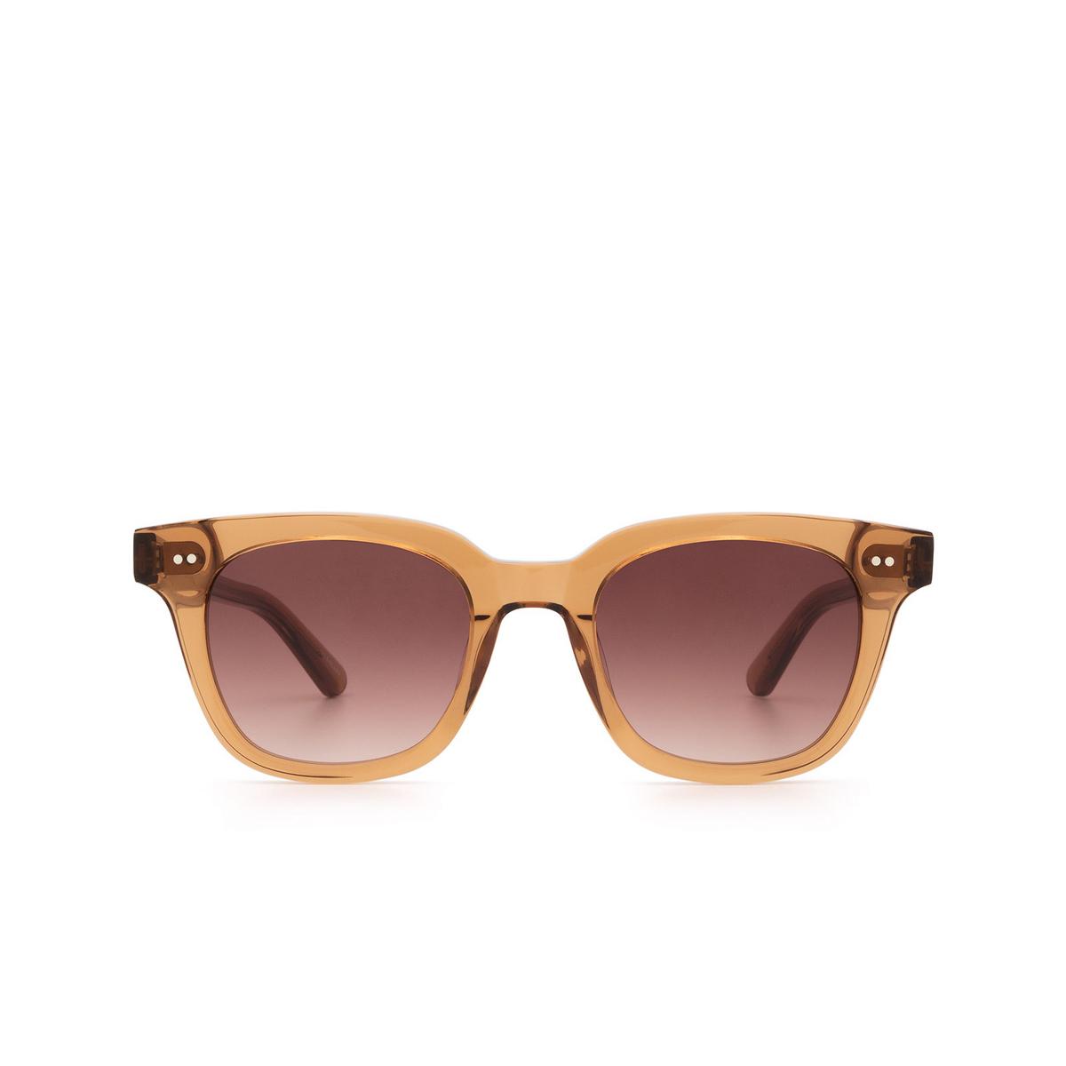 Chimi® Square Sunglasses: #101 color Brown Cinnamon Brown - front view.