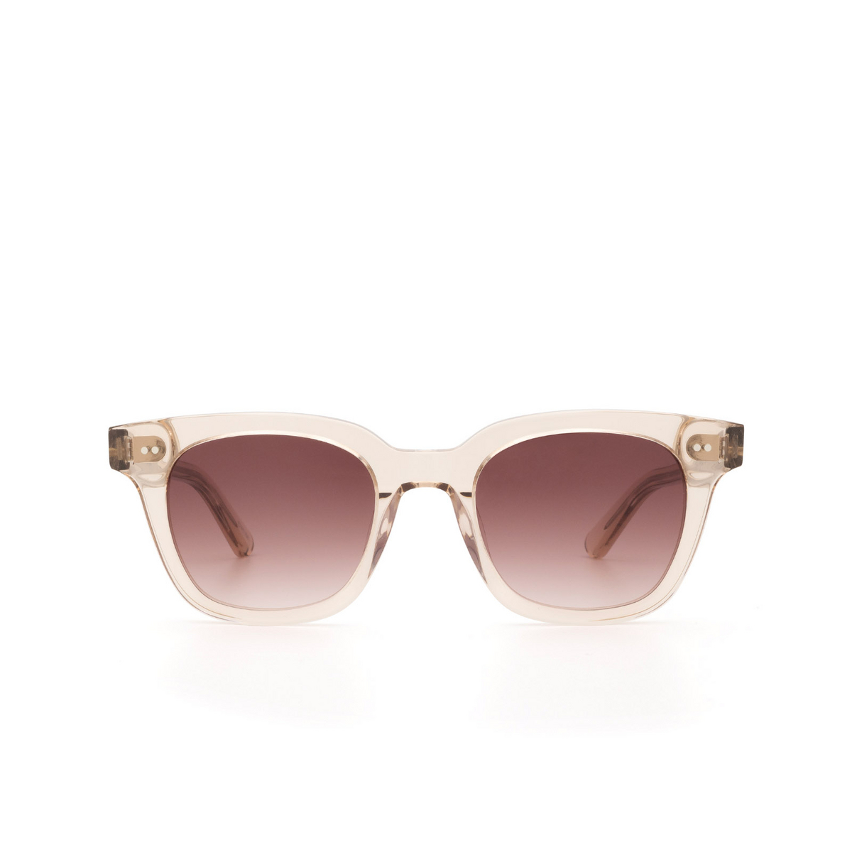 Chimi® Square Sunglasses: #101 color Light Beige Ecru - front view.