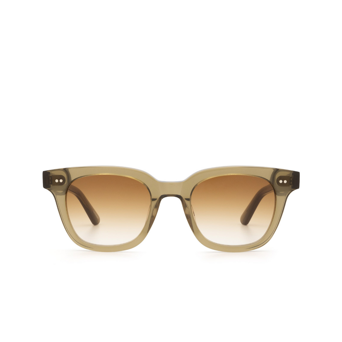 Chimi® Square Sunglasses: #101 color Olive Green Green - front view.