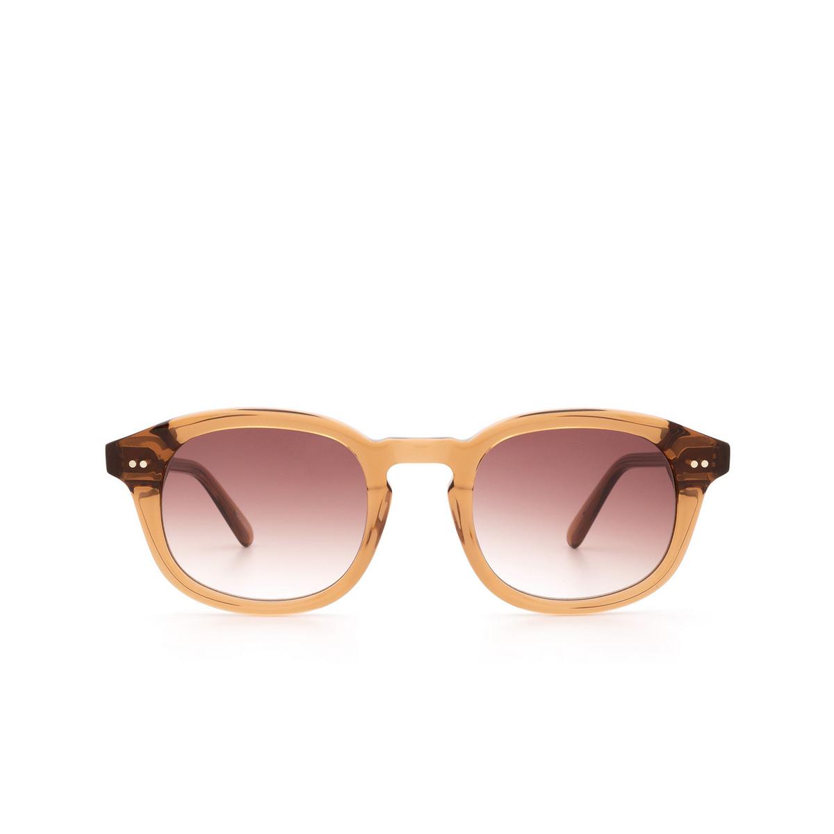 Chimi® Square Sunglasses: #102 color Brown Cinnamon Brown - front view.