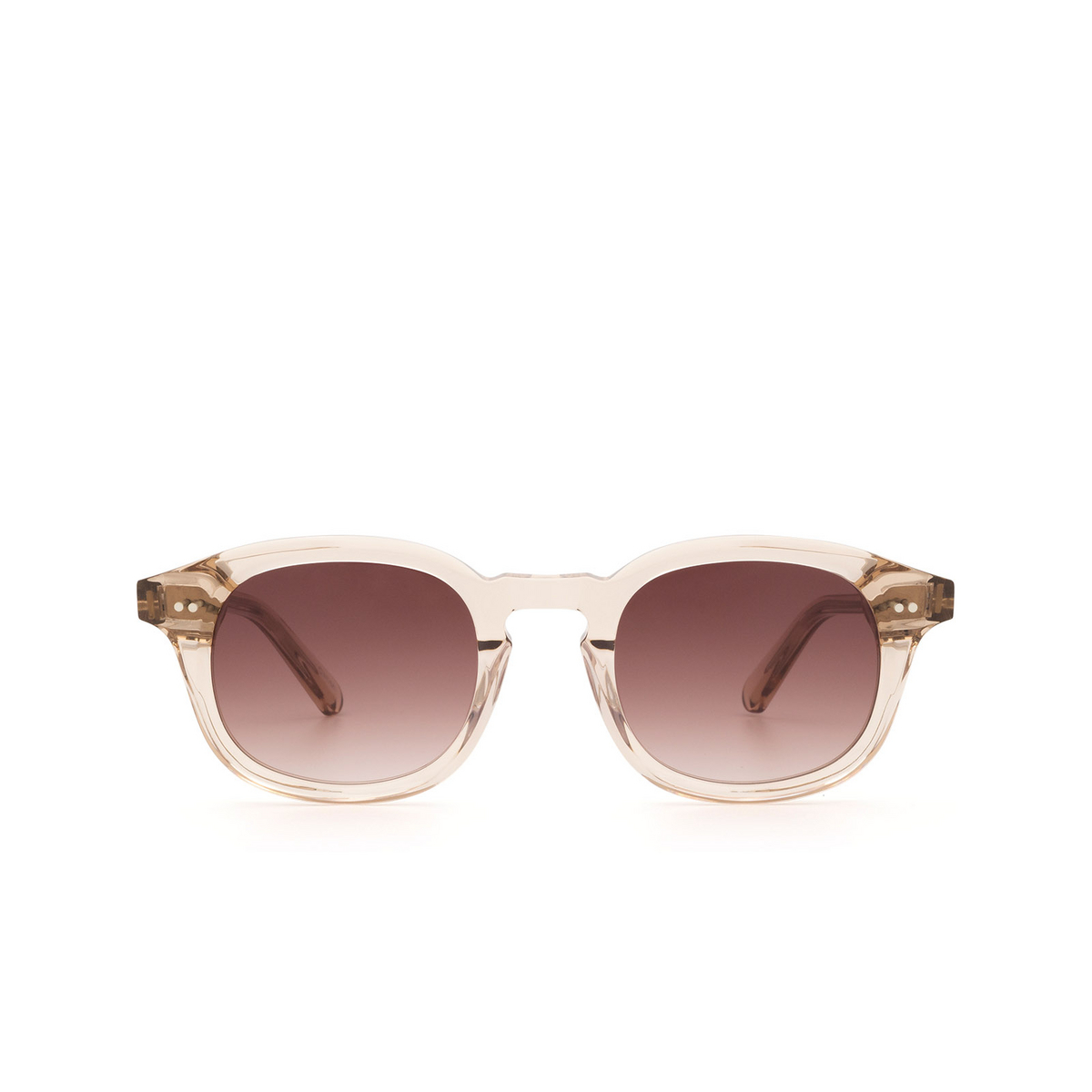Chimi® Square Sunglasses: #102 color Light Beige Ecru - front view.