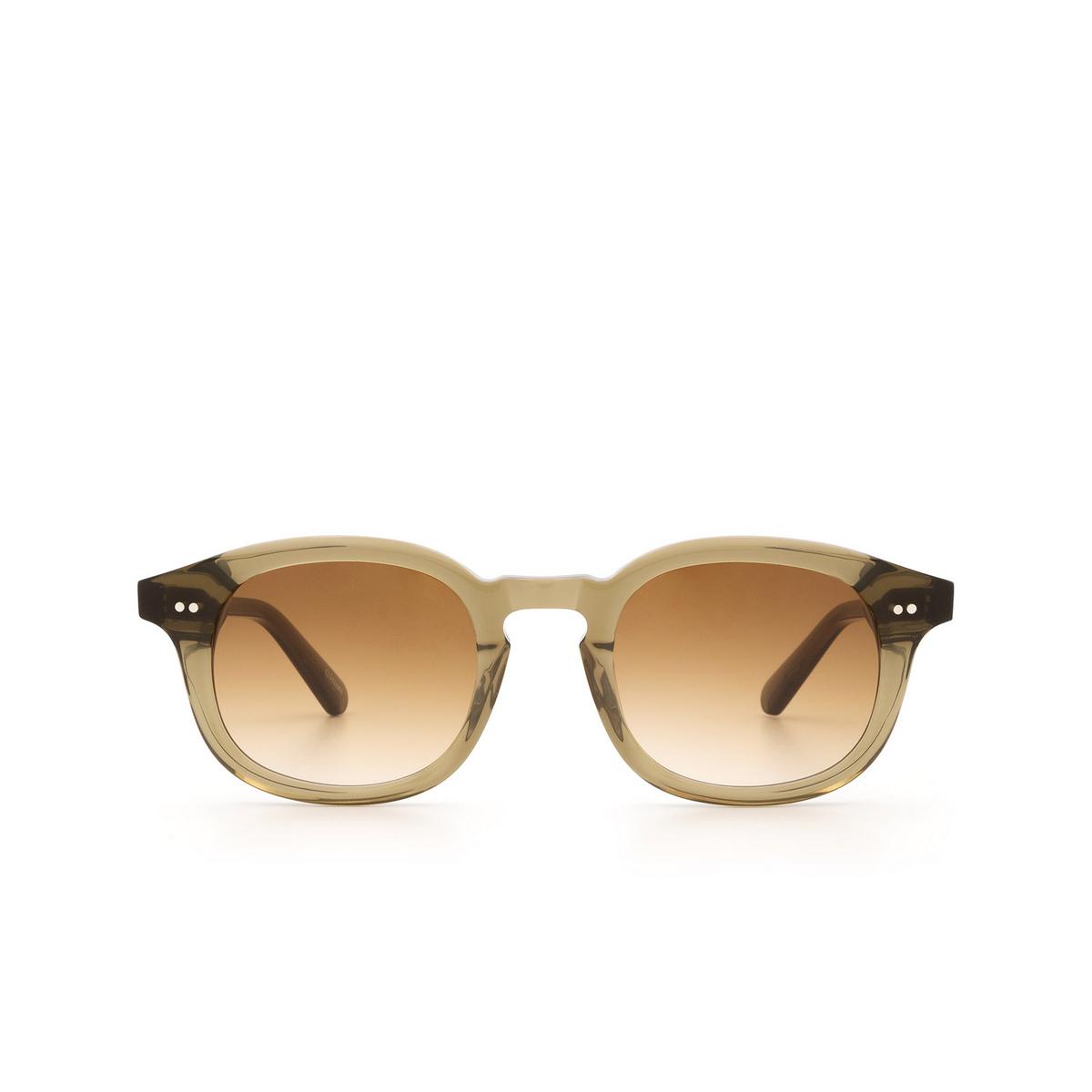 Chimi® Square Sunglasses: #102 color Olive Green Green.