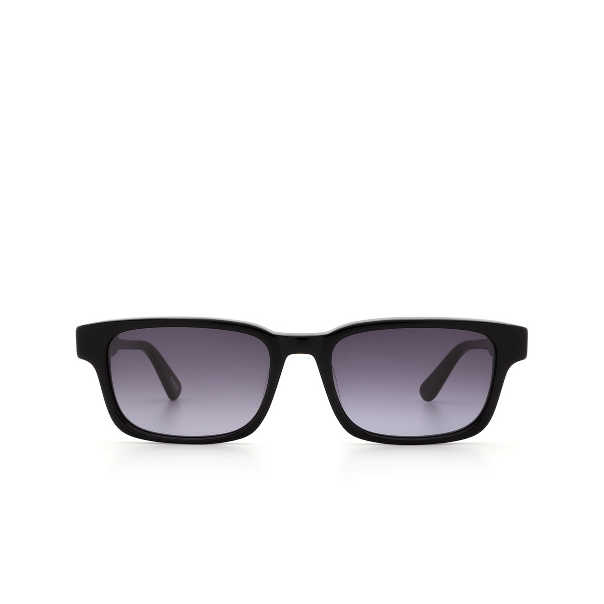 Chimi® Rectangle Sunglasses: #106 color Black - front view.