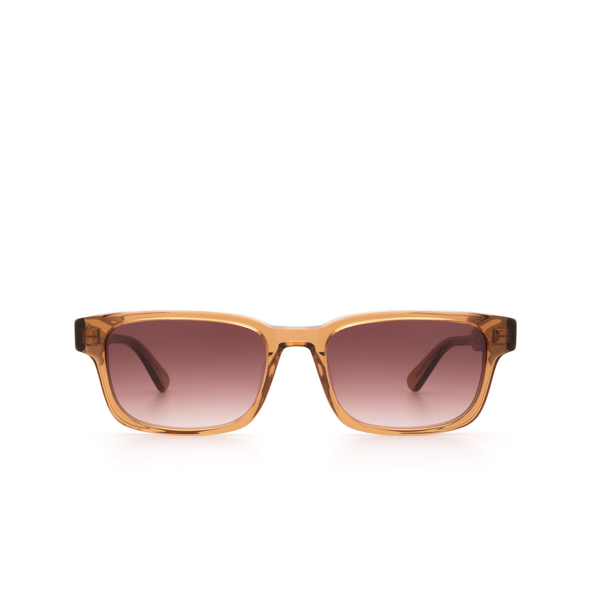Chimi® Rectangle Sunglasses: #106 color Brown Cinnamon Brown - front view.