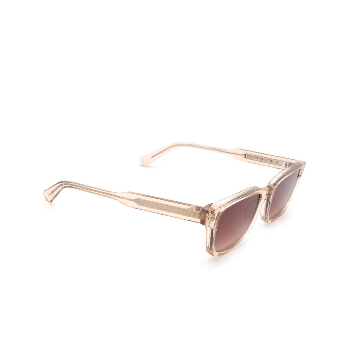 Chimi® Rectangle Sunglasses: #106 color Light Beige Ecru - three-quarters view.