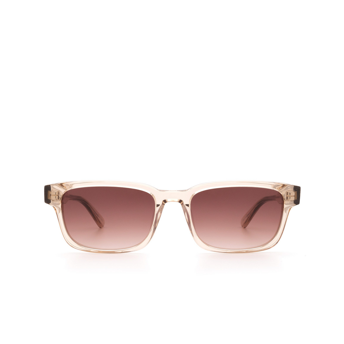 Chimi® Rectangle Sunglasses: #106 color Light Beige Ecru - front view.