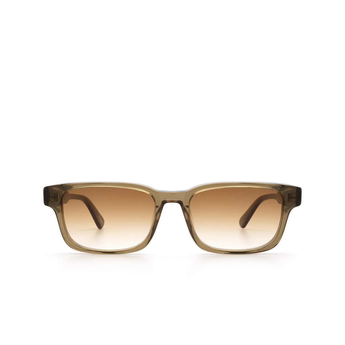 Chimi® Rectangle Sunglasses: #106 color Olive Green Green - front view.