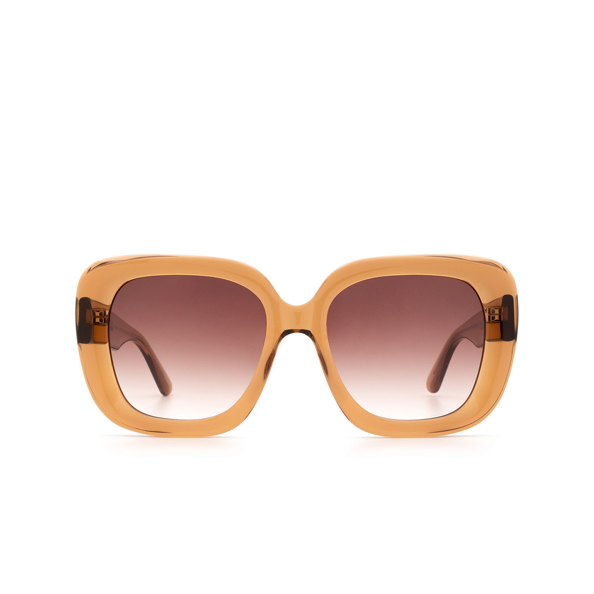 Chimi® Square Sunglasses: #108 color Brown - front view.