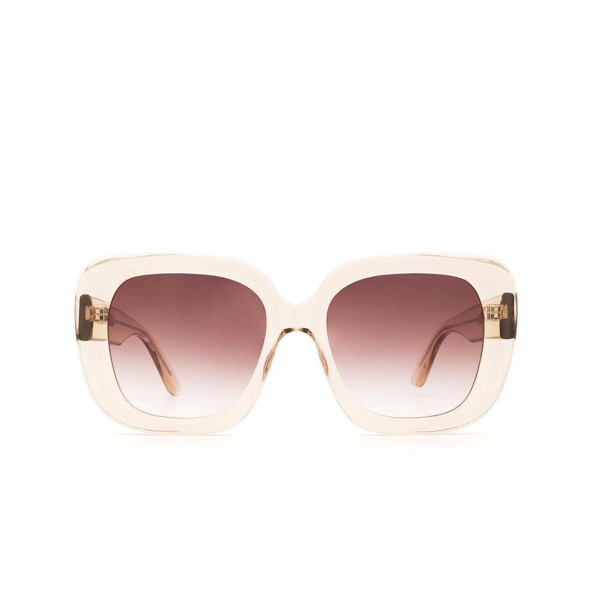 Chimi® Square Sunglasses: #108 color Light Beige Ecru - front view.