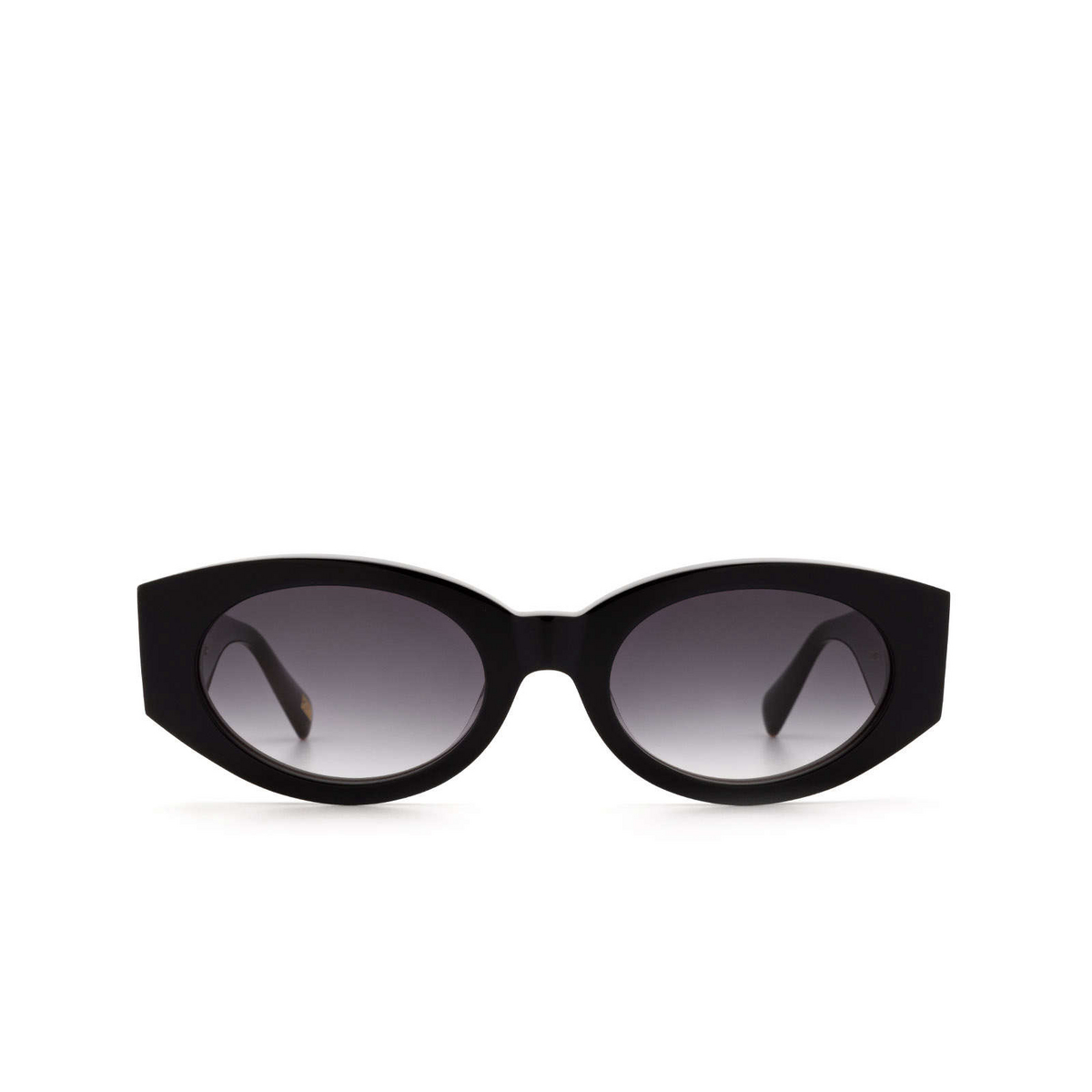Chimi® Oval Sunglasses: Craftmanship Round color Black - front view.
