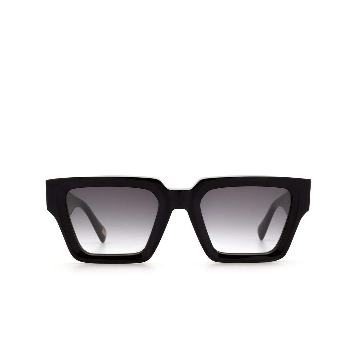 Chimi® Square Sunglasses: Craftmanship Square color Black - front view.