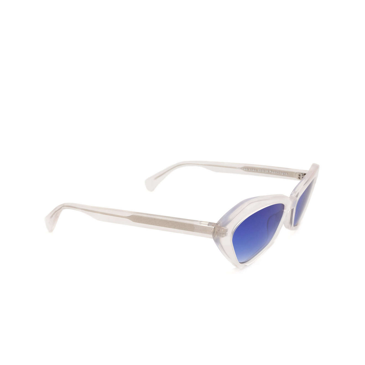 Chimi® Irregular Sunglasses: Space Melted Star color White Moonlight - three-quarters view.