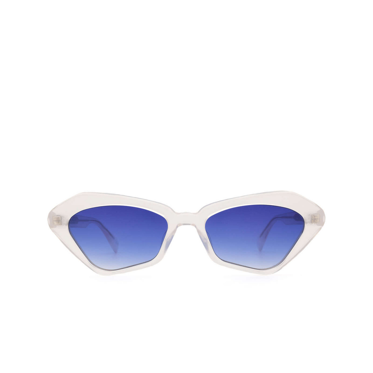 Chimi® Irregular Sunglasses: Space Melted Star color White Moonlight - front view.