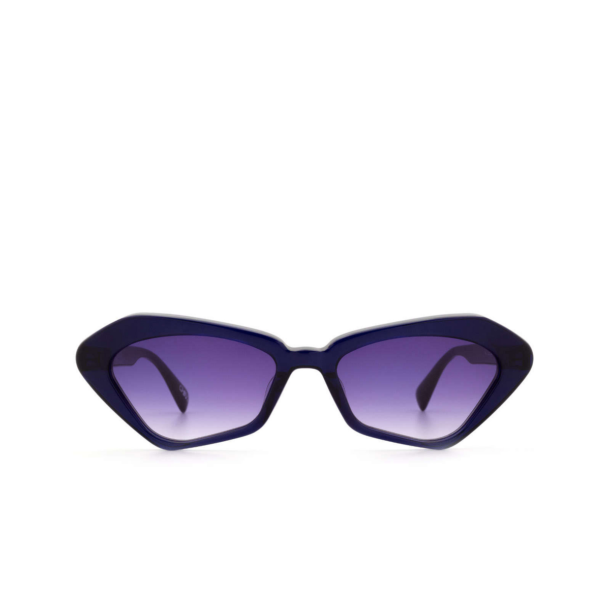 Chimi® Irregular Sunglasses: Space Melted Star color Blue Nebula - front view.