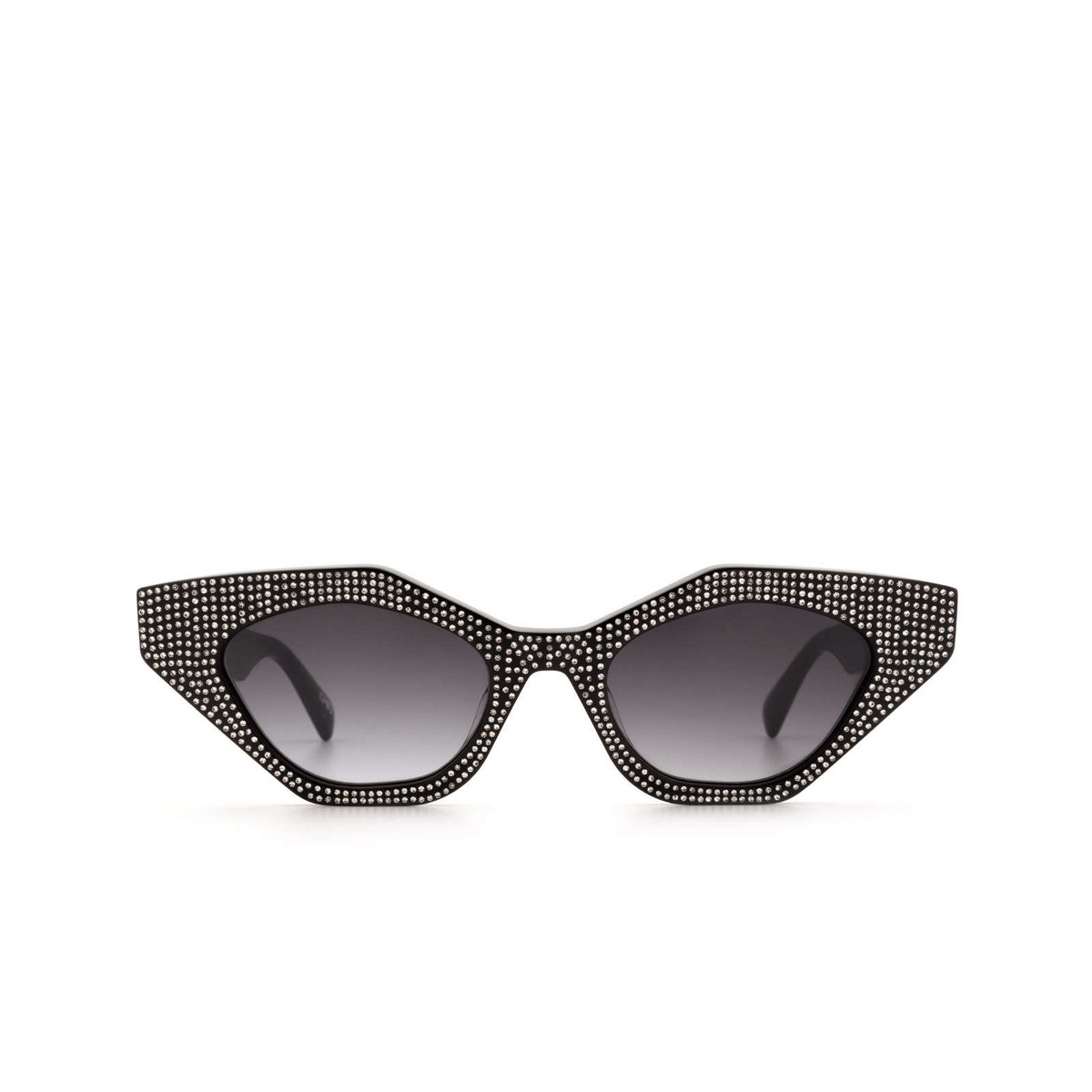 Chimi® Cat-eye Sunglasses: Star Cluster color Black Shine - front view.