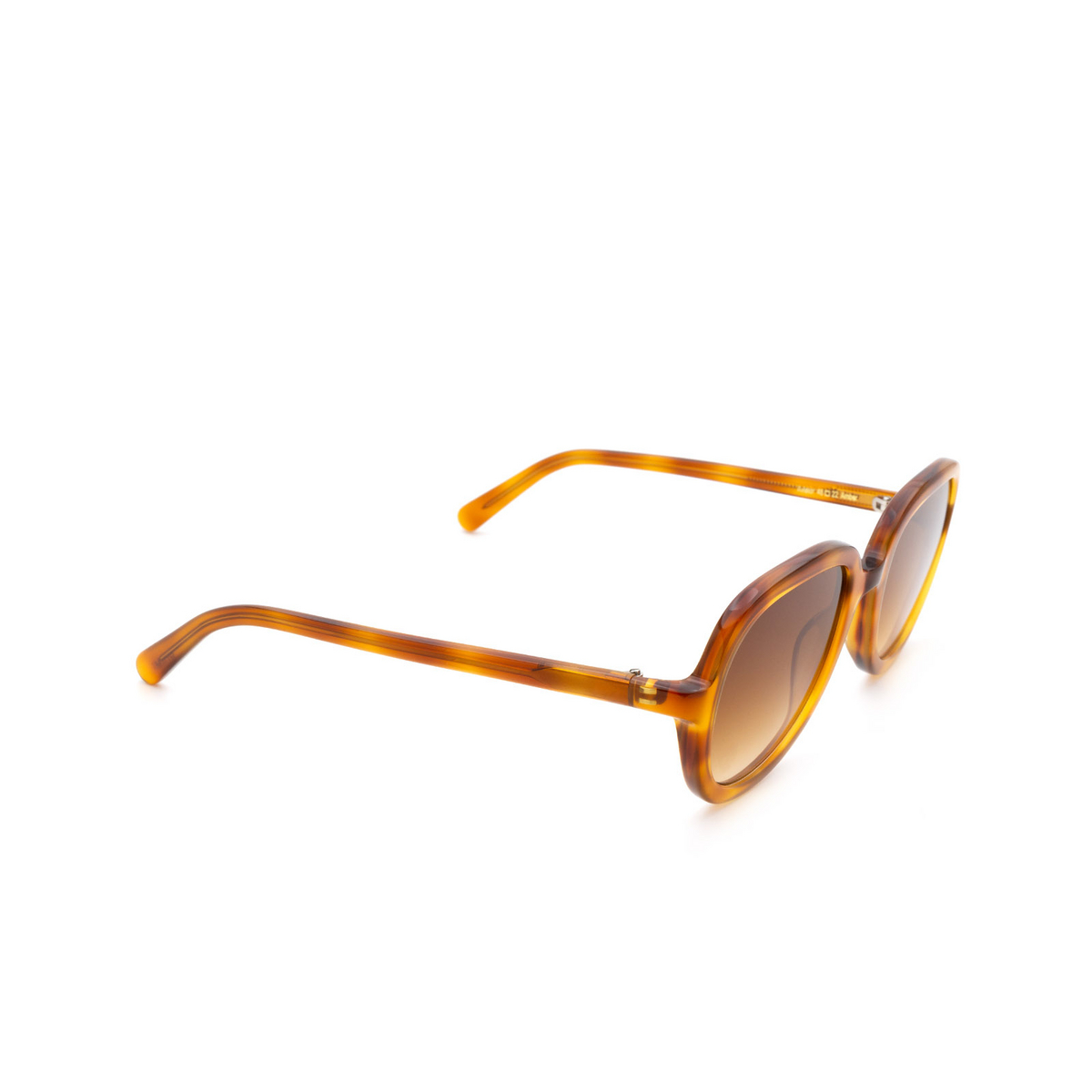 Chimi® Square Sunglasses: Voyage Aviator color Amber - three-quarters view.