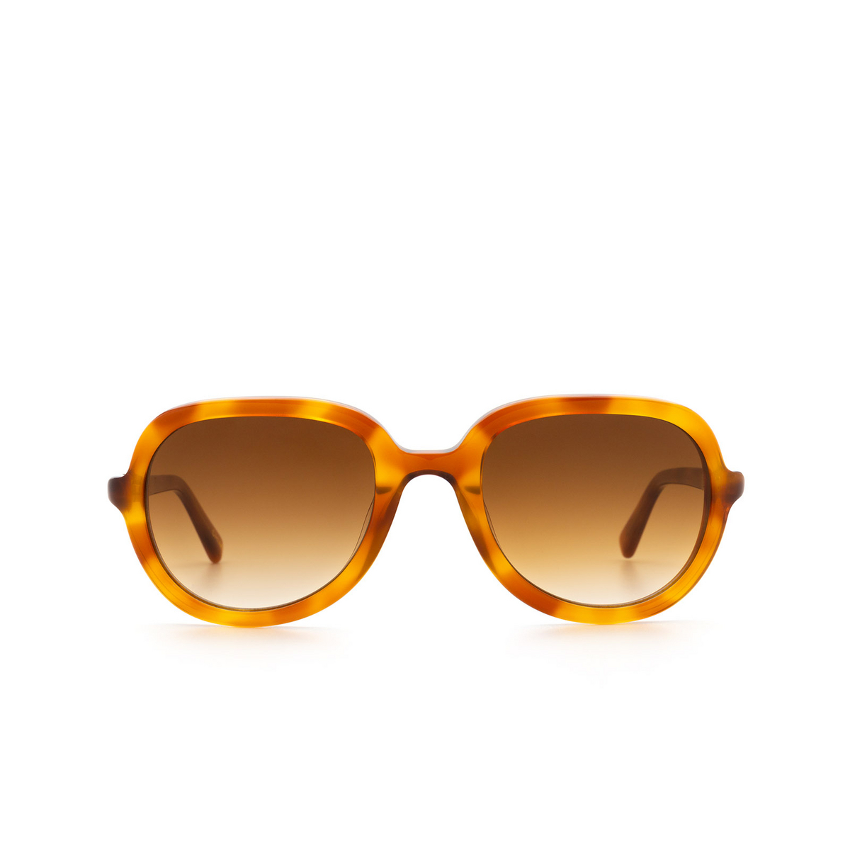 Chimi® Square Sunglasses: Voyage Aviator color Amber - front view.