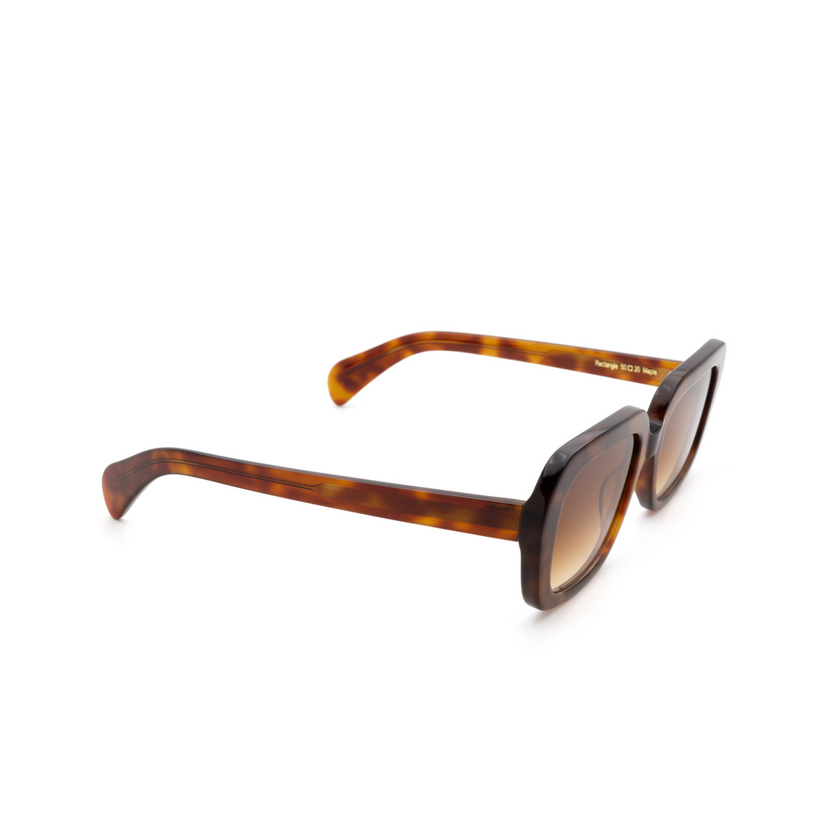 Chimi® Rectangle Sunglasses: Voyage Rectangle color Maple - three-quarters view.