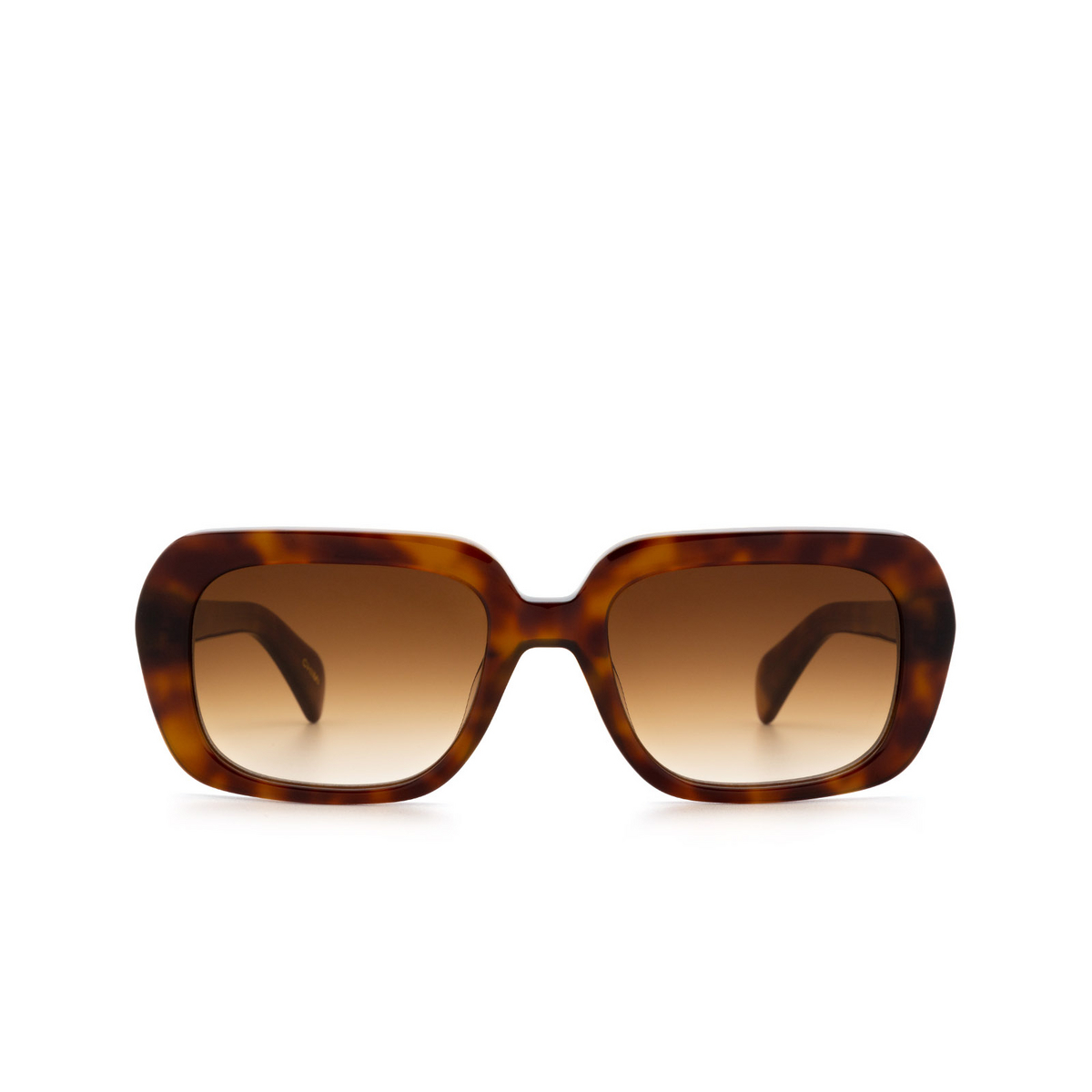 Chimi® Rectangle Sunglasses: Voyage Rectangle color Maple - front view.