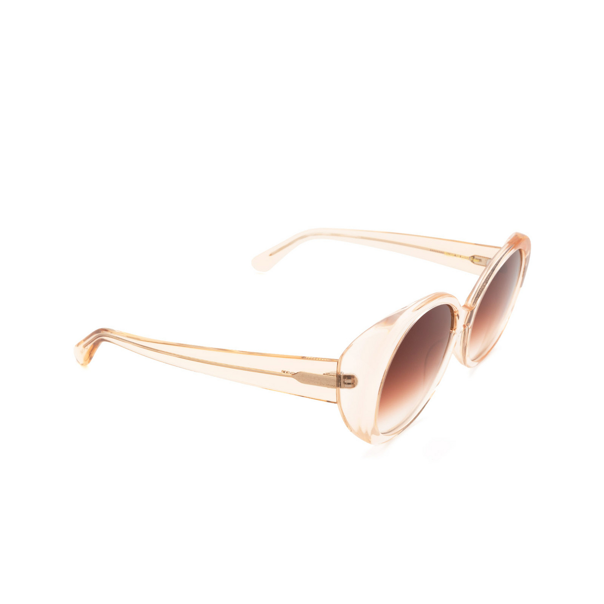Chimi® Butterfly Sunglasses: Voyage Round color Fawn - three-quarters view.