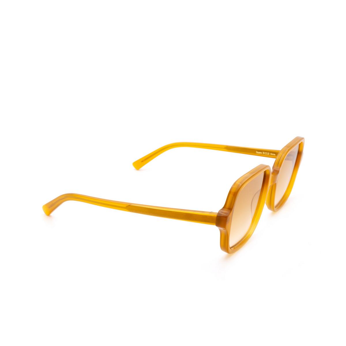Chimi® Square Sunglasses: Voyage Square color Honey - three-quarters view.