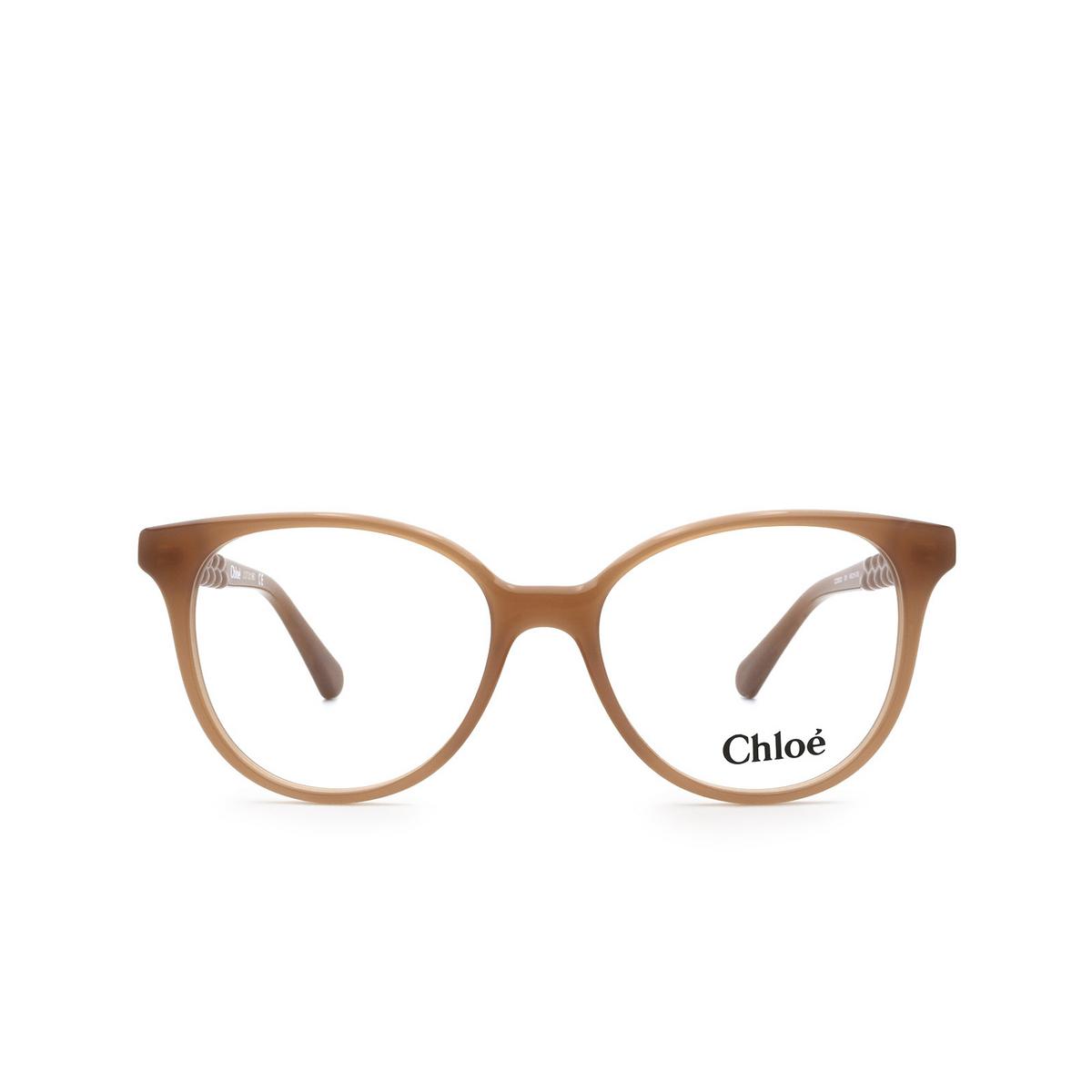 Chloé® Cat-eye Eyeglasses: CC0002O color Orange 001 - front view.
