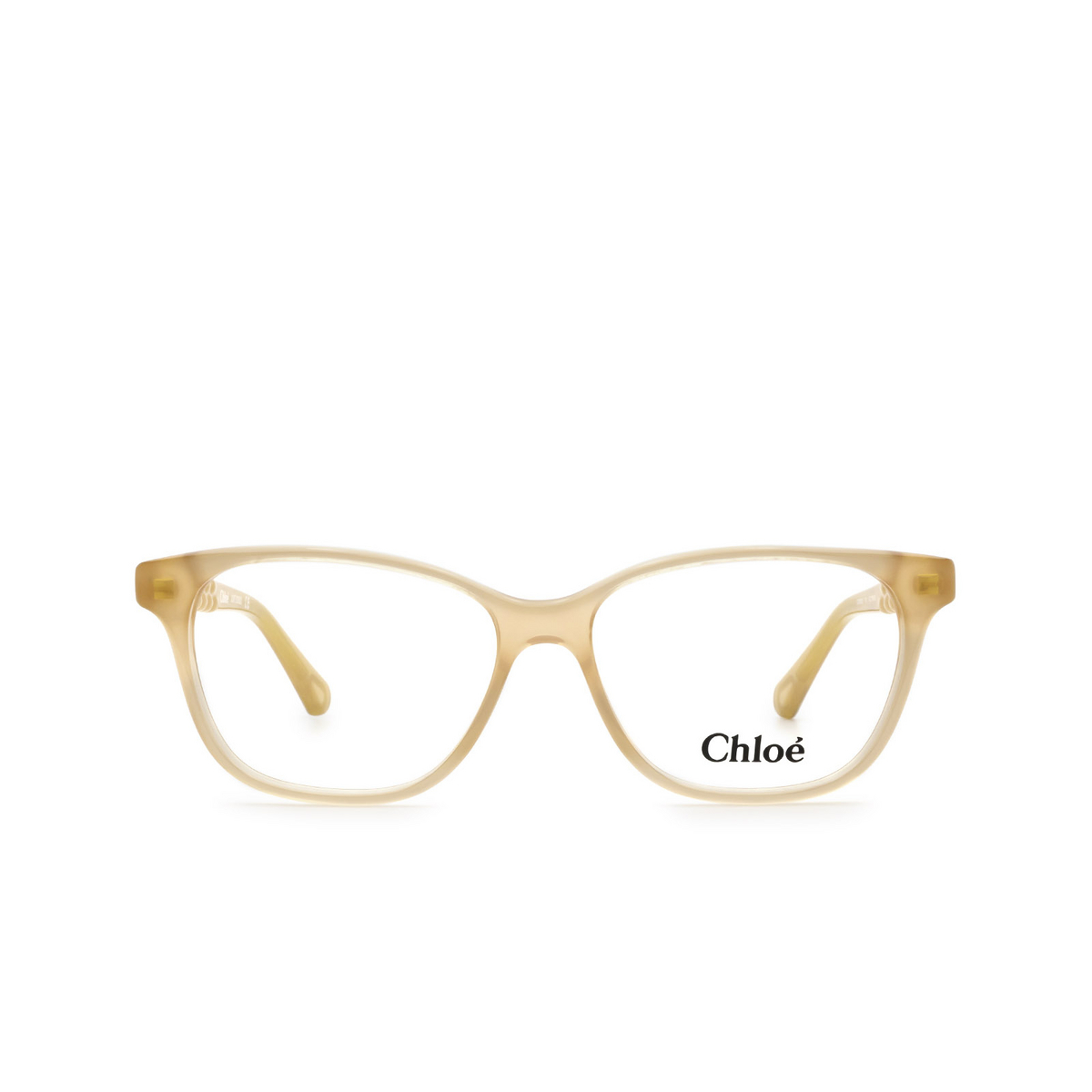 Chloé® Rectangle Eyeglasses: CC0003O color Nude 001 - front view.