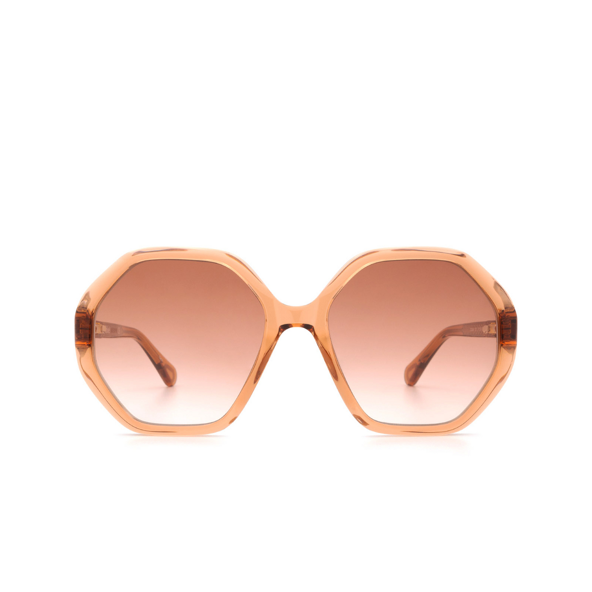 Chloé® Irregular Sunglasses: CC0004S color Orange 002 - front view.