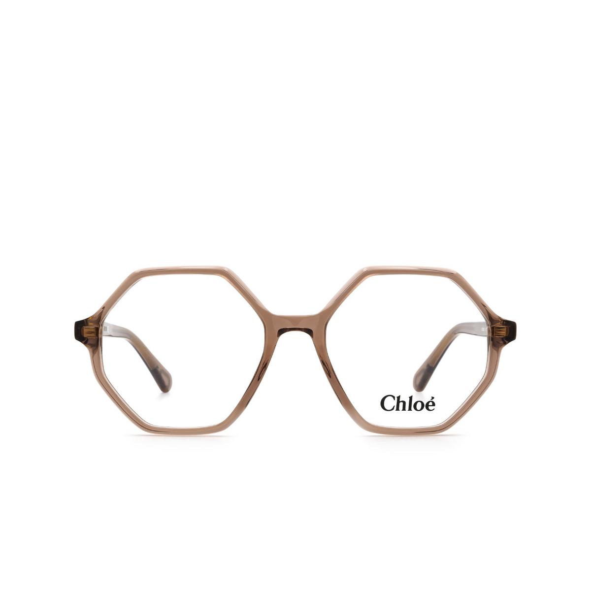 Chloé® Irregular Eyeglasses: CC0005O color Pink 001 - front view.