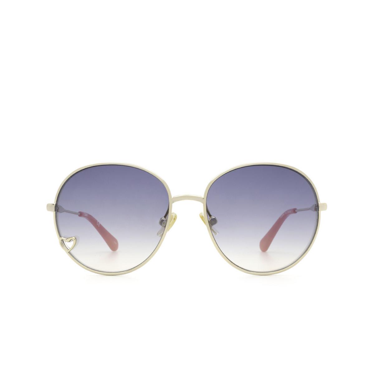 Chloé® Round Sunglasses: CC0006S color Gold 002 - front view.