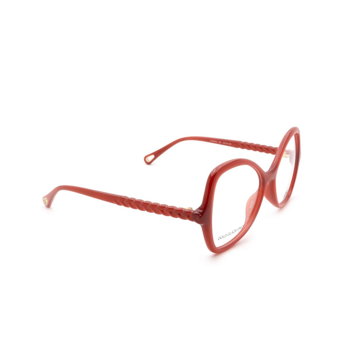Chloé ® Butterfly Eyeglasses: CH0004O color Orange 002.