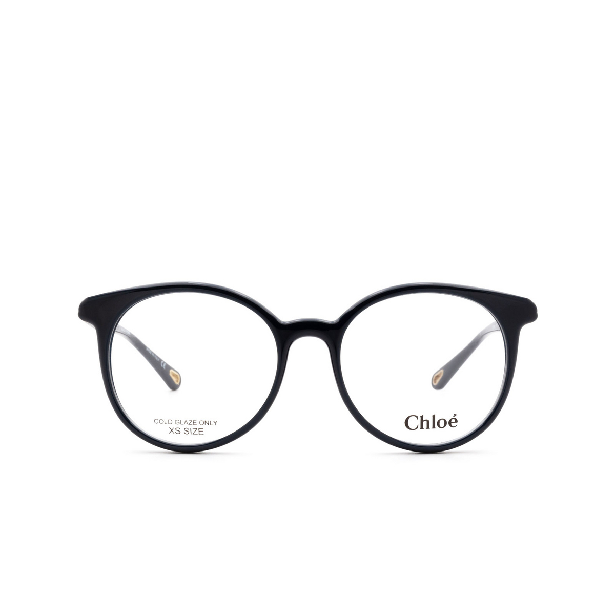 Chloé® Round Eyeglasses: CH0006O color Blue 002 - front view.