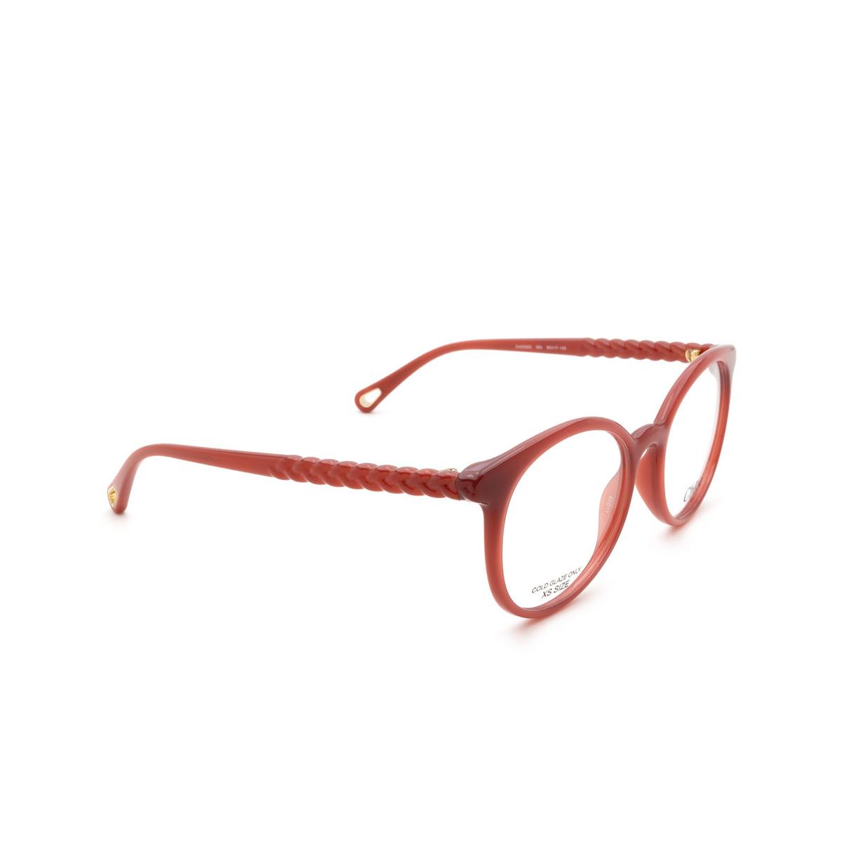 Chloé ® Round Eyeglasses: CH0006O color Orange 004.