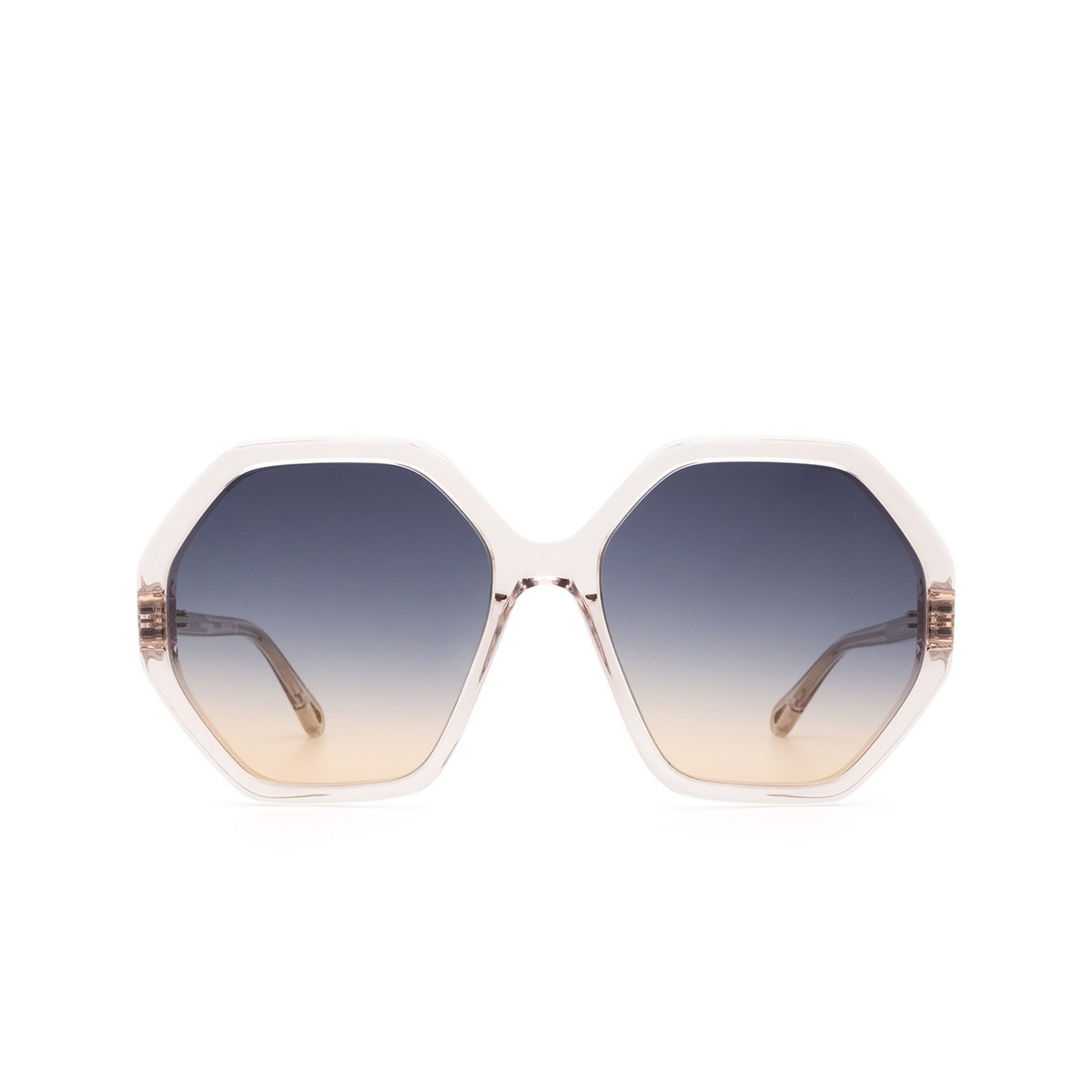 Chloé® Irregular Sunglasses: CH0008S color Pink 002 - front view.
