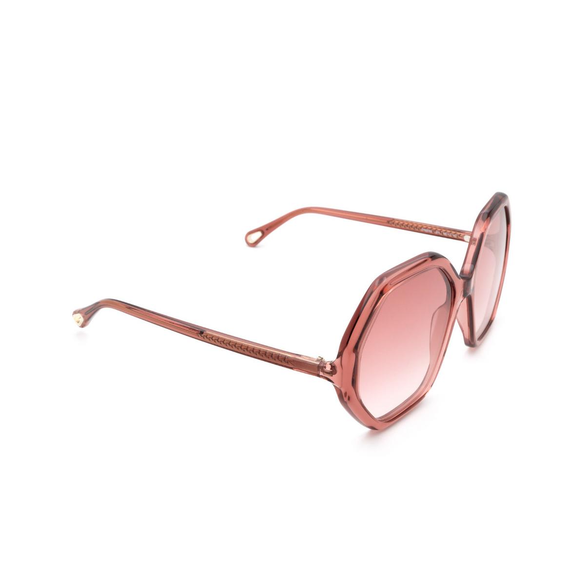 Chloé ® Irregular Sunglasses: CH0008S color Pink 003.