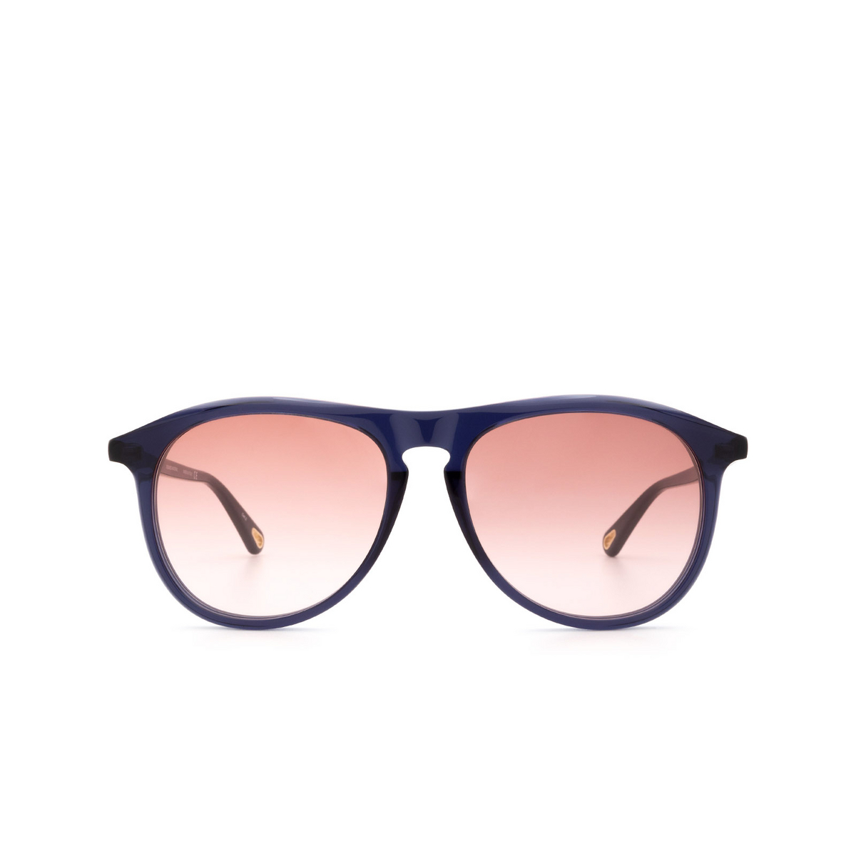 Chloé ® Aviator Sunglasses: CH0009S color Blue 001.