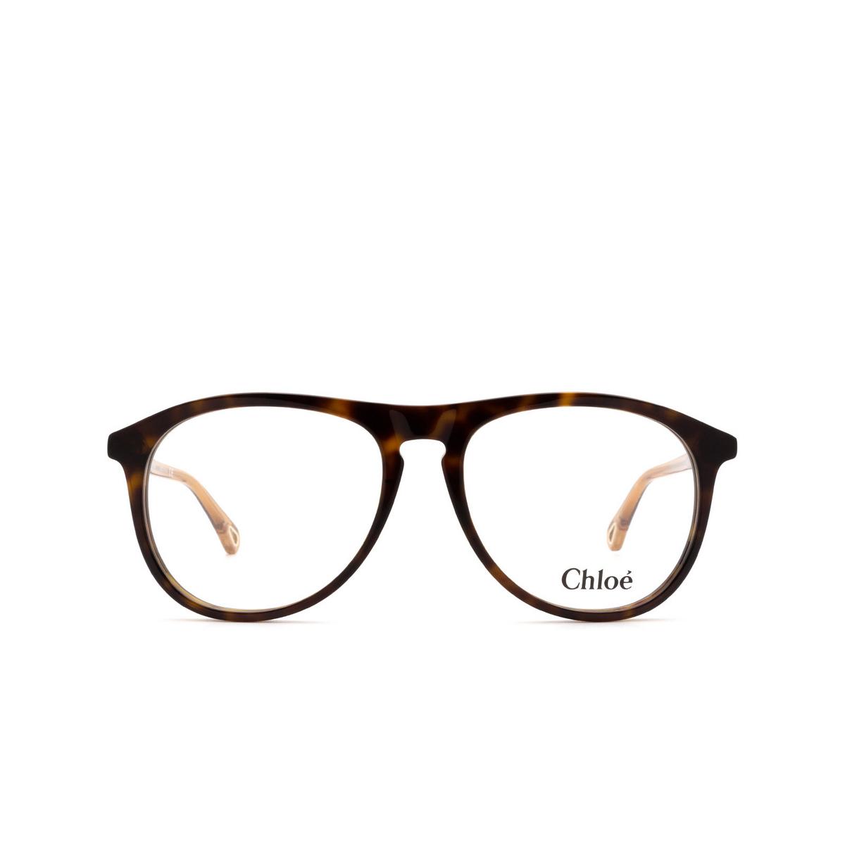 Chloé ® Aviator Eyeglasses: CH0010O color Dark Havana 003.