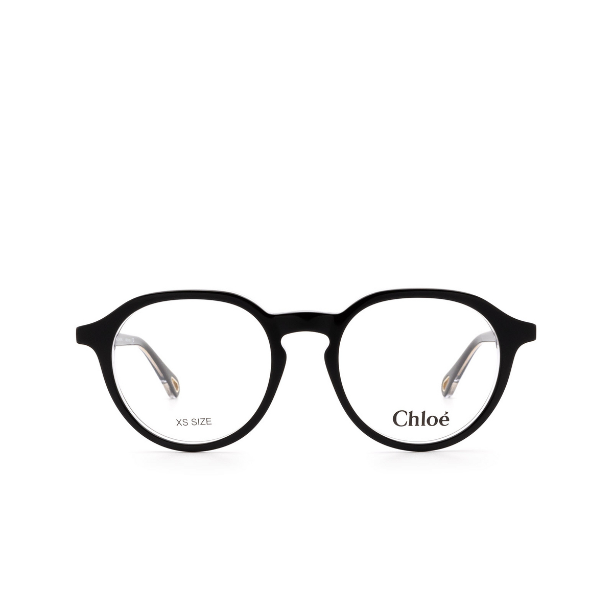 Chloé® Round Eyeglasses: CH0012O color Black 003 - front view.