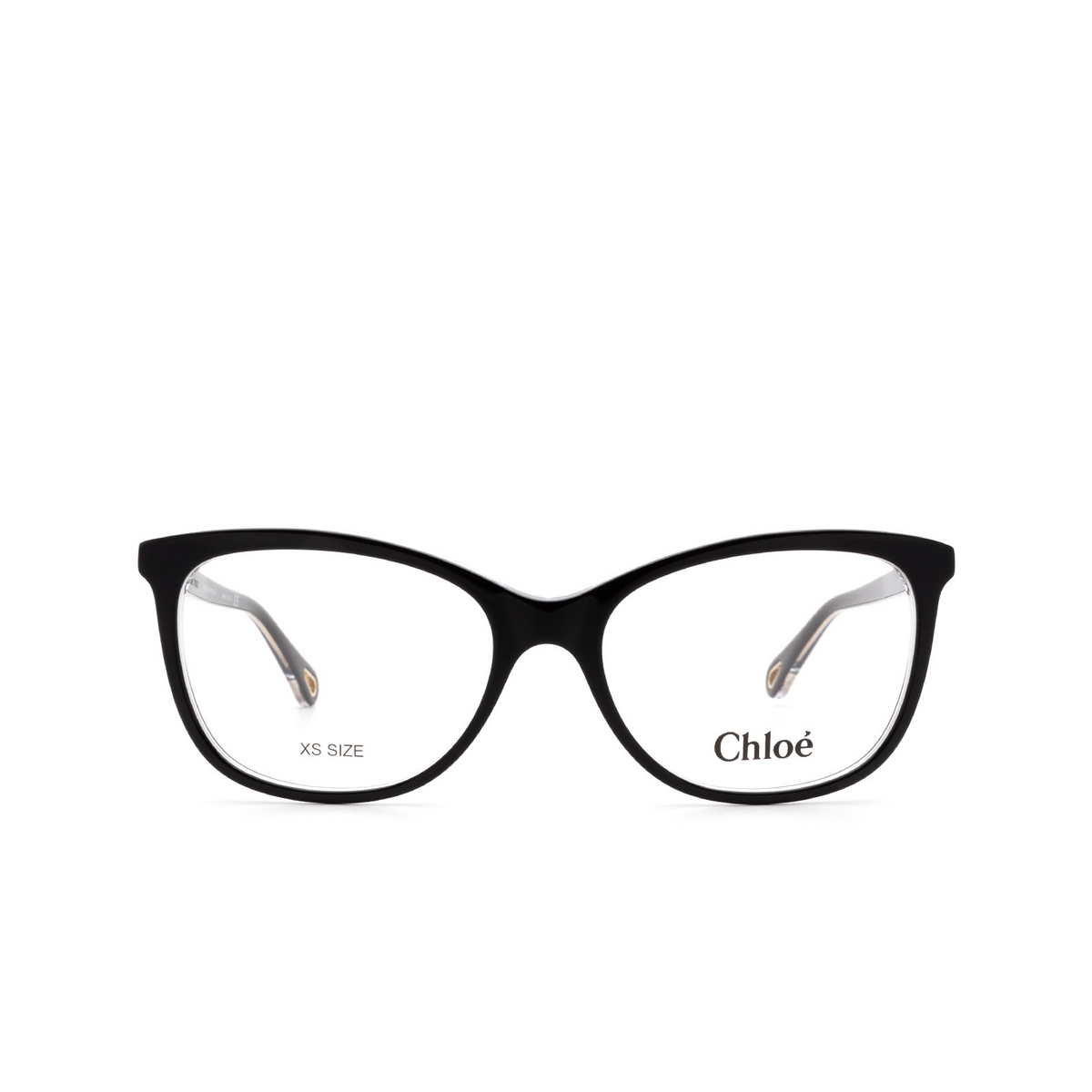 Chloé® Rectangle Eyeglasses: CH0013O color Black 004 - front view.