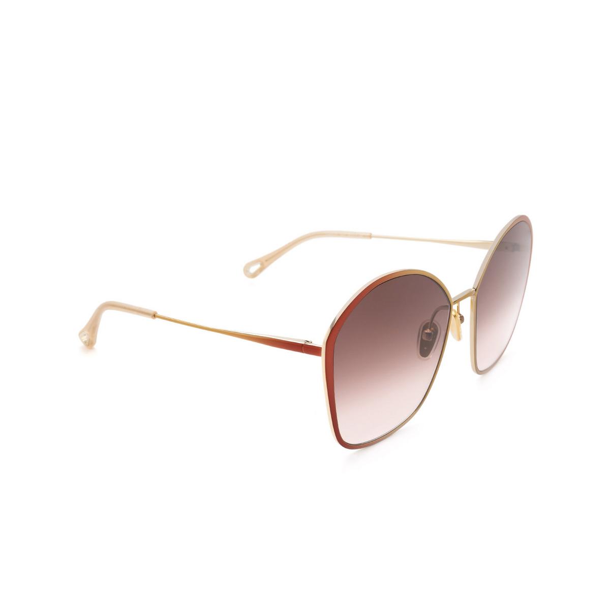 Chloé ® Irregular Sunglasses: CH0015S color Brown 002.