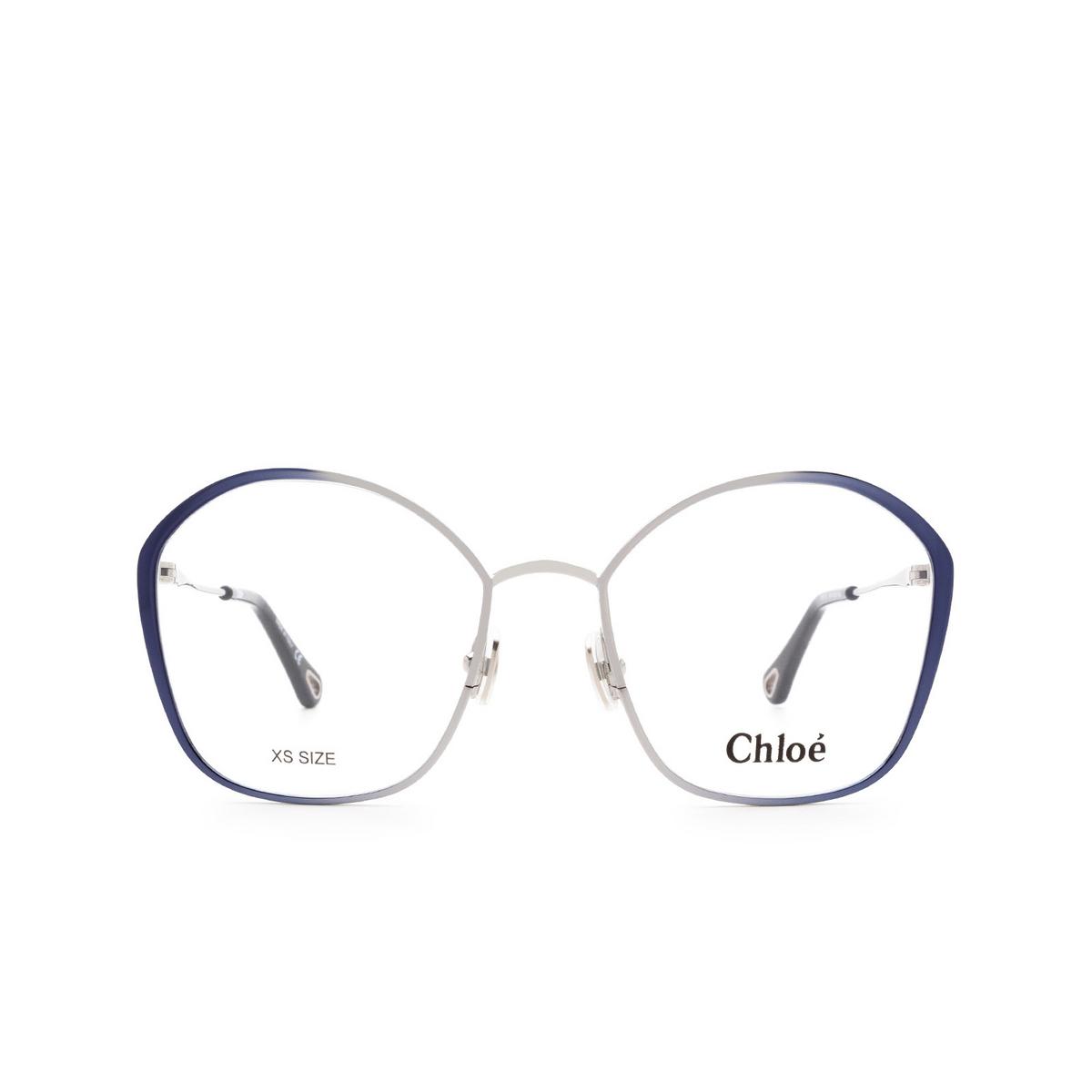 Chloé ® Irregular Eyeglasses: CH0017O color Silver & Blue 004.