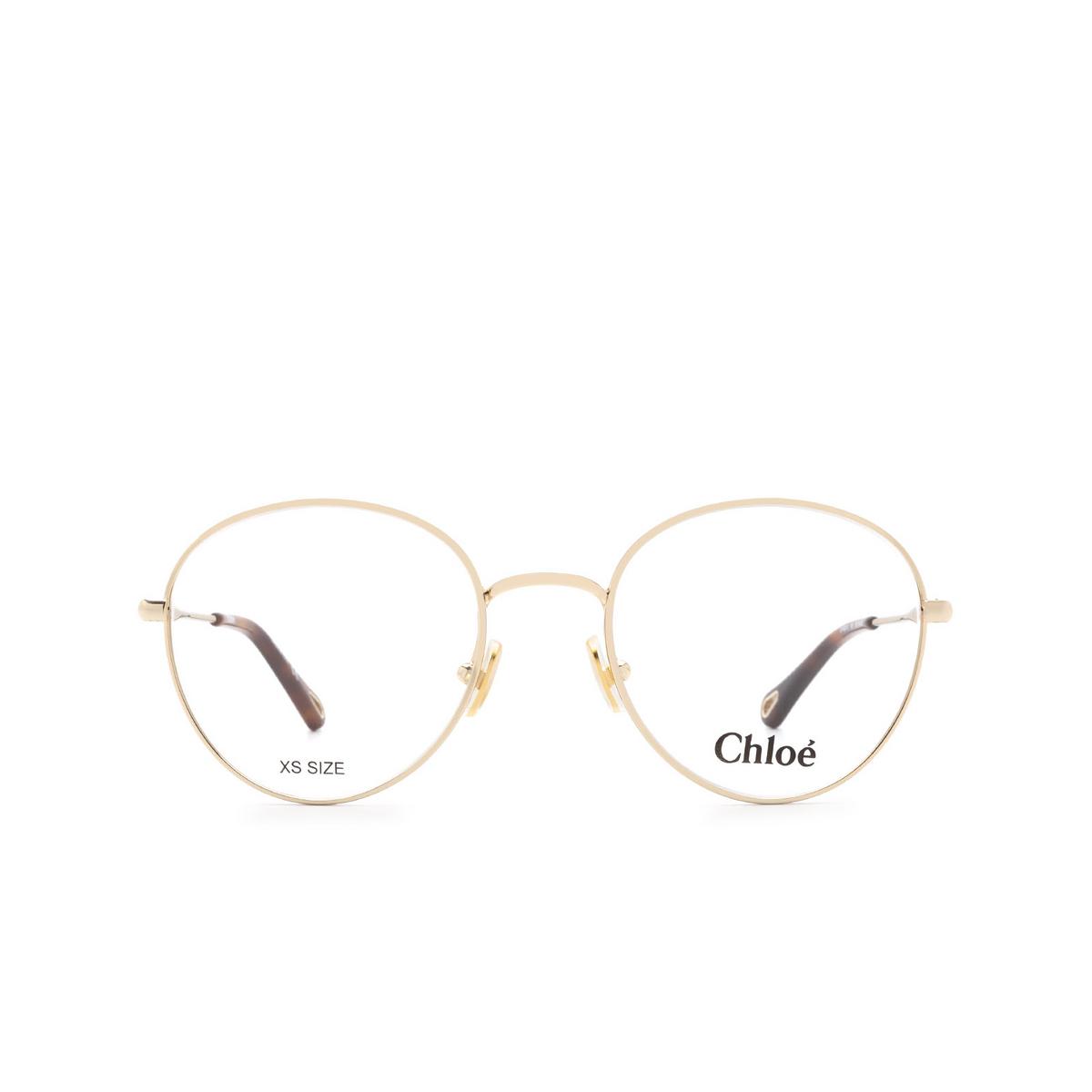 Chloé ® Round Eyeglasses: CH0021O color Gold 001.