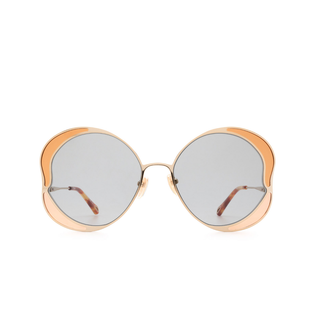 Chloé® Butterfly Sunglasses: CH0024S color Gold 002 - front view.