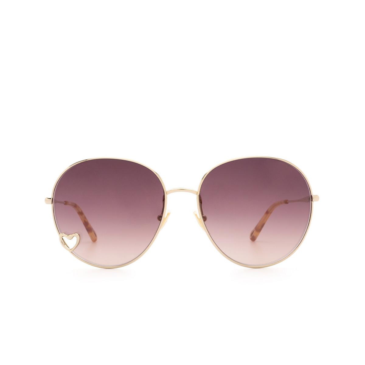 Chloé ® Round Sunglasses: CH0027S color Gold 001.