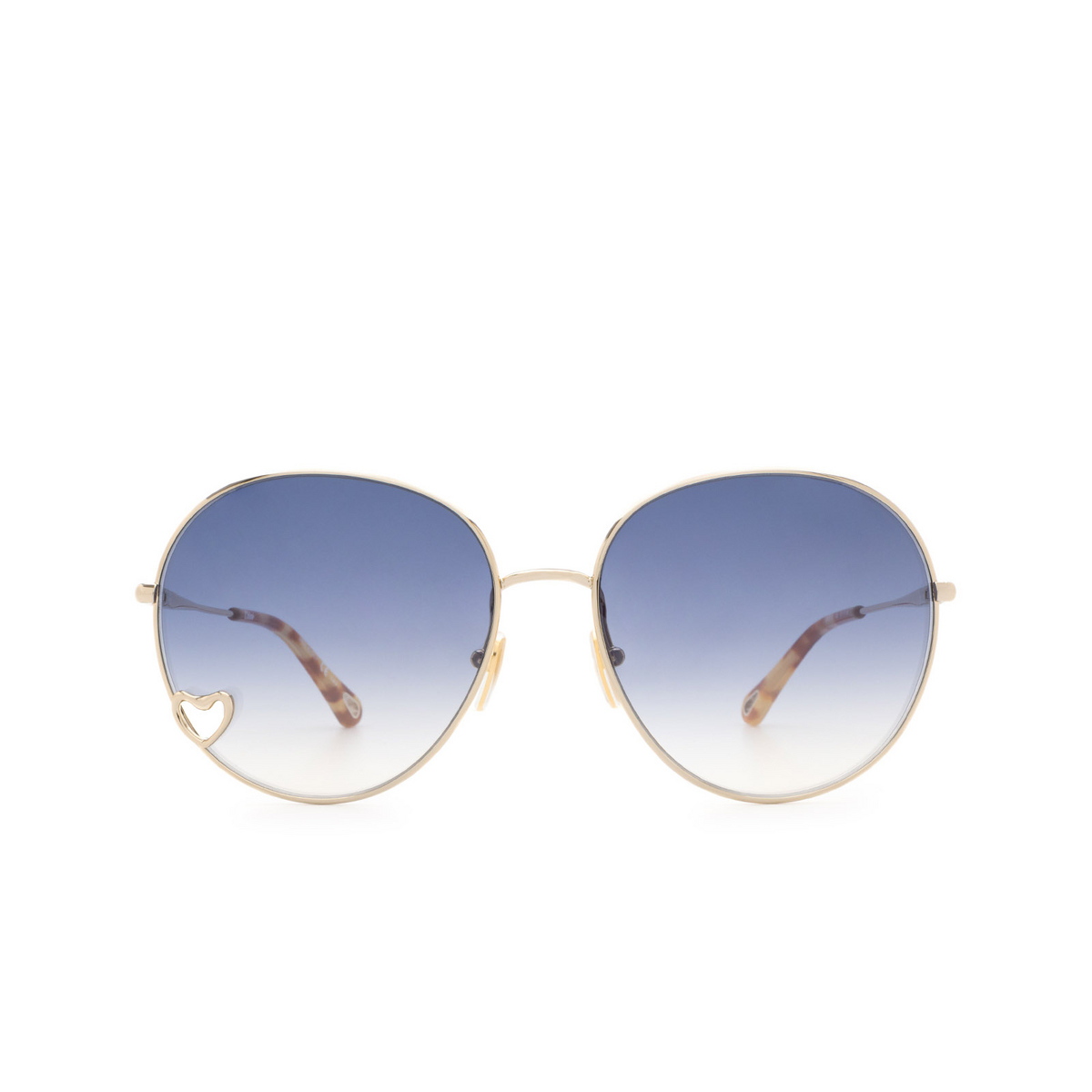 Chloé ® Round Sunglasses: CH0027S color Gold 002.