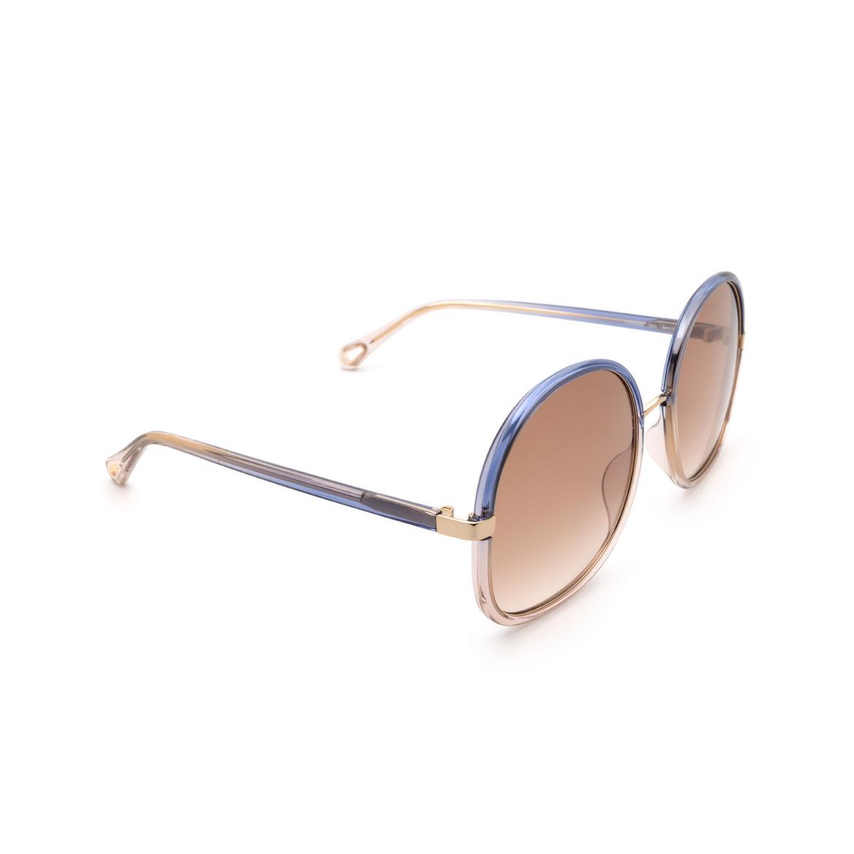 Chloé ® Round Sunglasses: CH0029S color Blue 003.