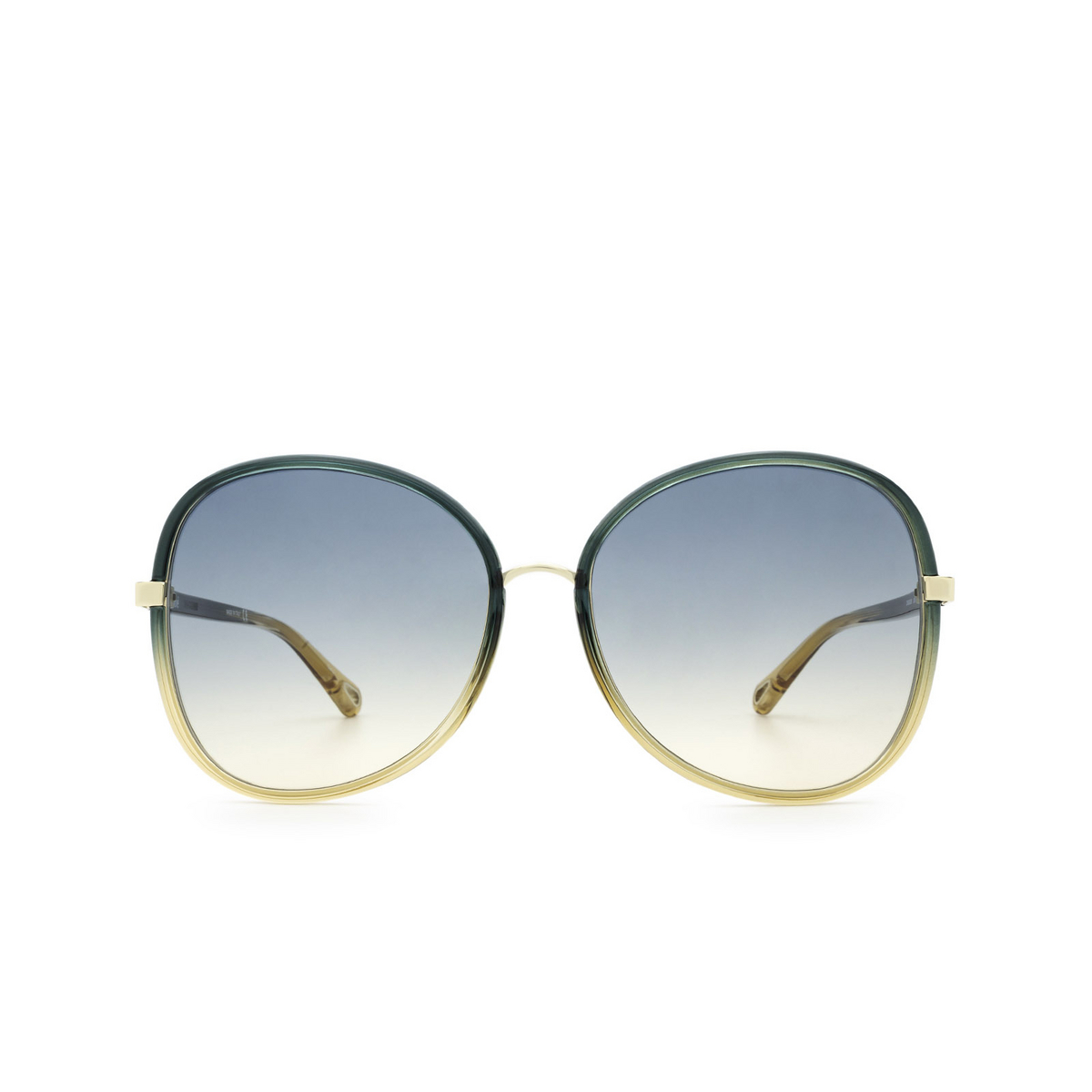 Chloé® Butterfly Sunglasses: CH0030S color Green 006 - front view.