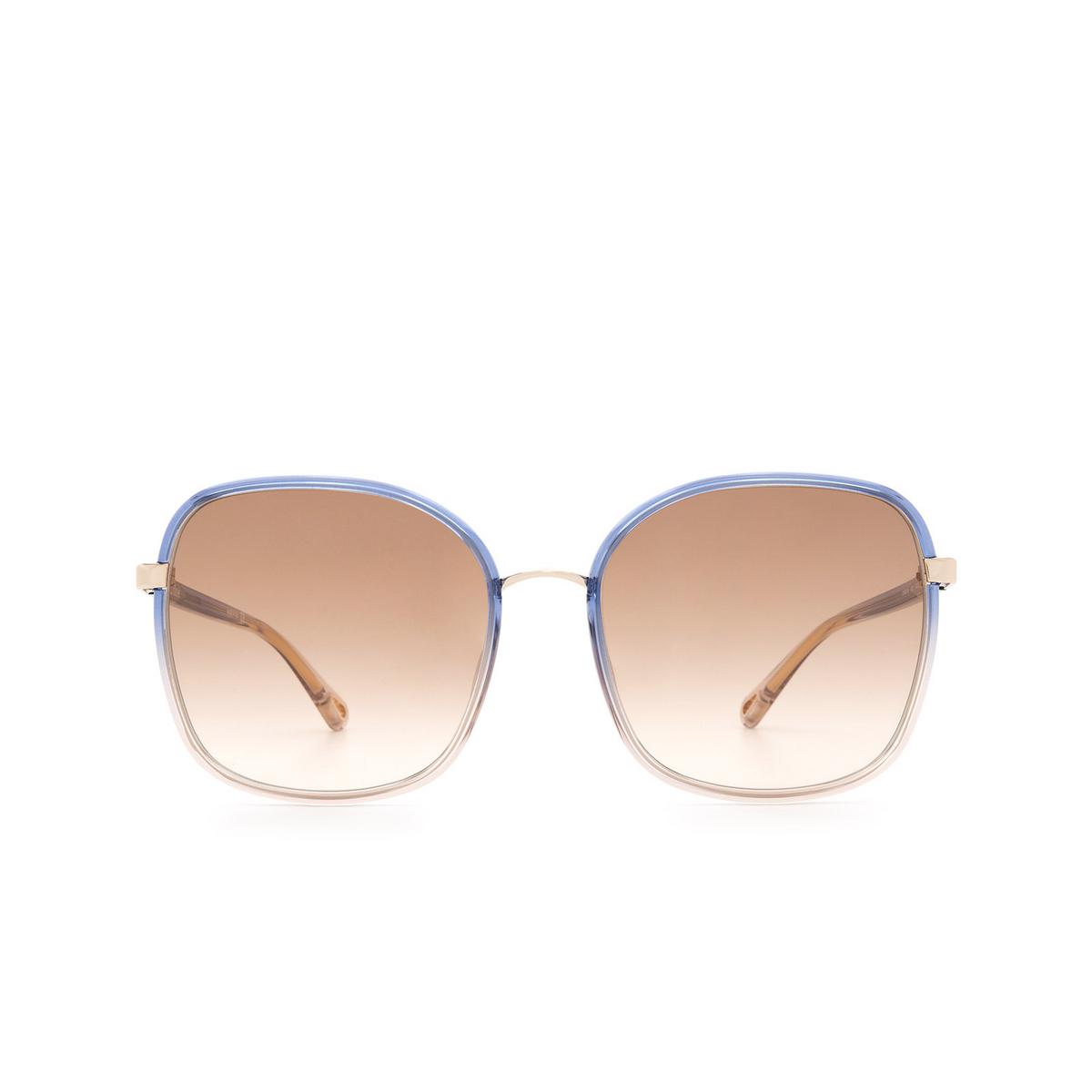 Chloé ® Square Sunglasses: CH0031S color Blue 003.